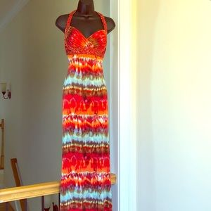 JOVANI sz 4 multicolored gown formal prom like new